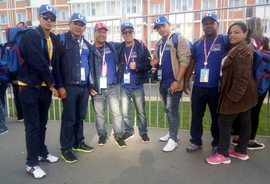 Delegados cubanos reciben muestras de amistad en cita juvenil mundial