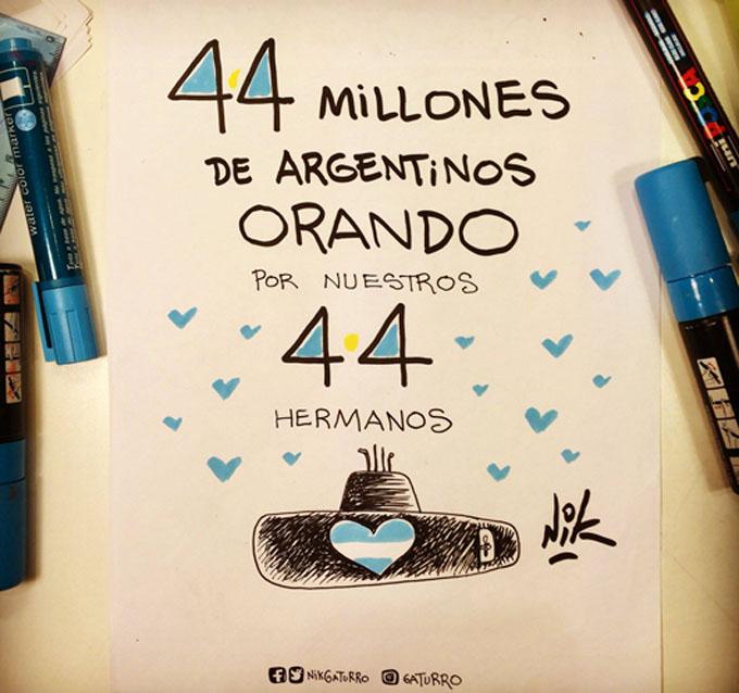 Una semana sin noticias del submarino argentino, sigue la búsqueda (+fotos y video)