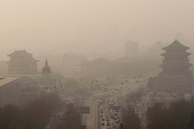 Paralizan obras constructivas por mala calidad del aire en China