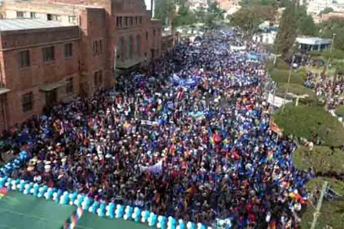 Marchas por la postulación de Evo Morales marcaron semana en Bolivia