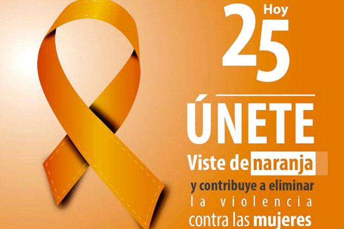 Mundo naranja de la ONU para detener violencia contra las mujeres