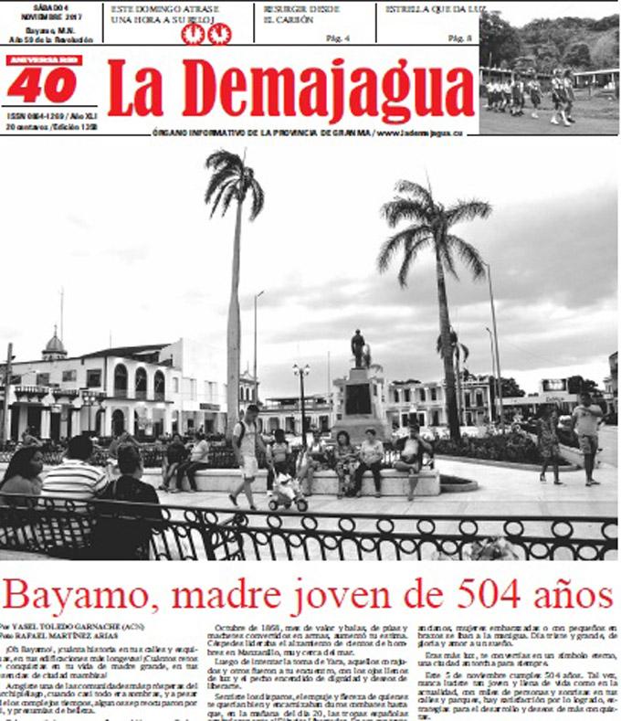 Edición impresa 1358 del semanario La Demajagua, sábado 4 de noviembre de 2017