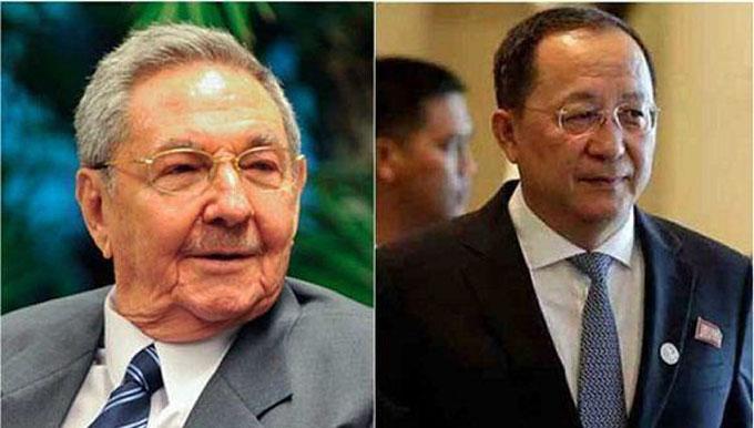 Recibe presidente cubano a canciller de Corea del Norte
