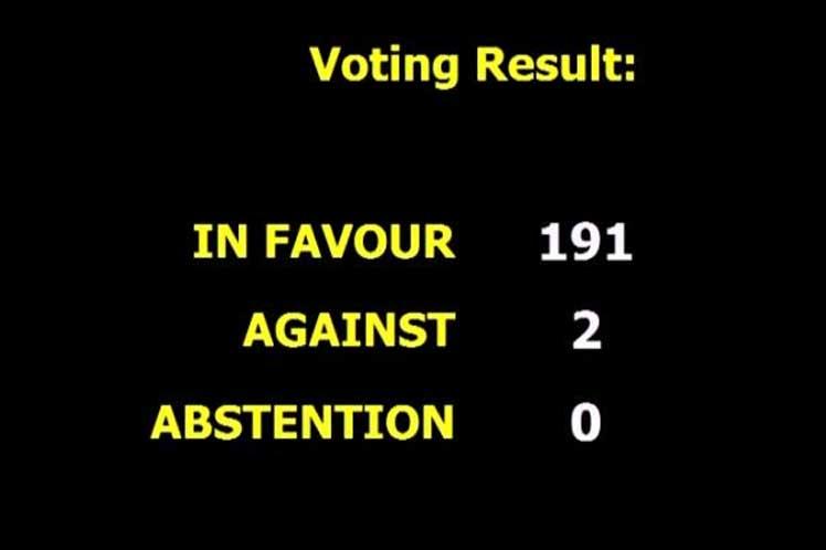 El mundo ratifica en ONU su rechazo al bloqueo de EE.UU. contra Cuba