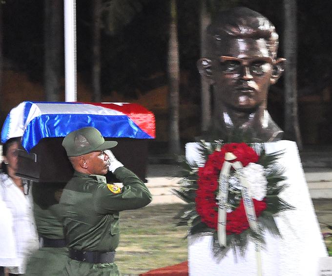 Peregrinación y gala artística en homenaje a Fidel,  en Bayamo