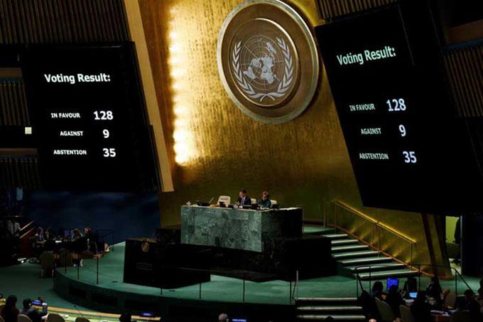 Estados Unidos vuelve a quedar aislado en ONU