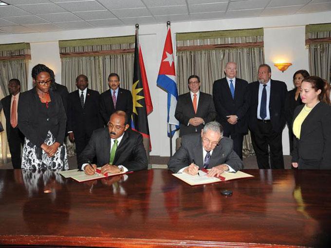 Realizó Raúl visita oficial a Antigua y Barbuda