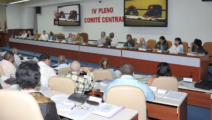 Sesionó IV Pleno del Comité Central del Partido Comunista de Cuba