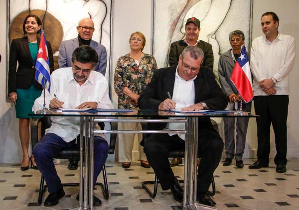 Cuba y Chile firman convenio de cooperación en el ámbito audiovisual