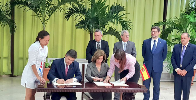 Cuba y España firman acuerdo de entendimiento en materia de justicia