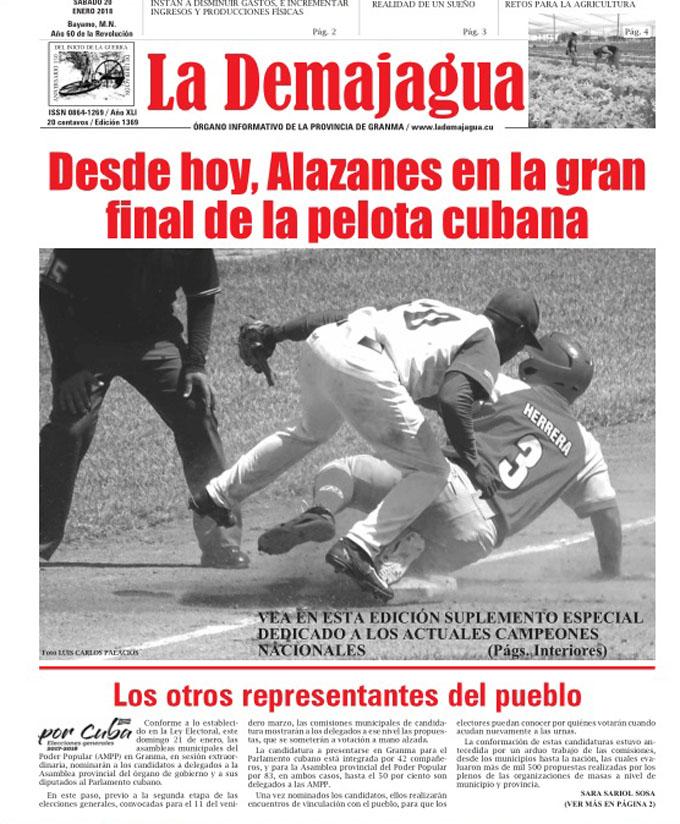 Edición impresa 1369 del semanario La Demajagua, sábado 20 enero de 2018
