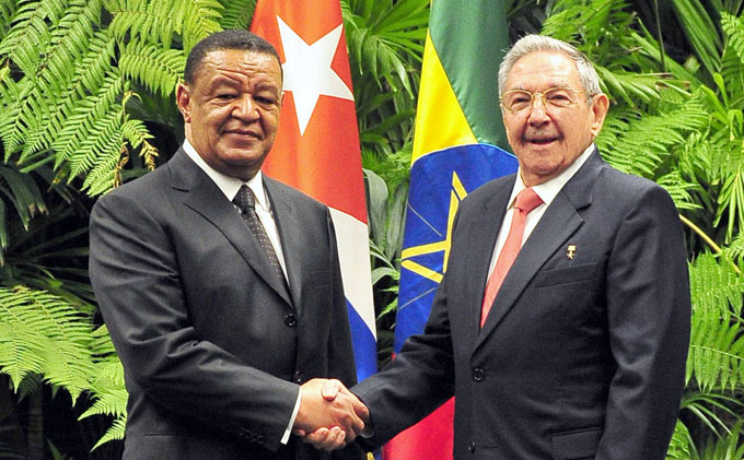 Recibió Raúl al Presidente de Etiopía