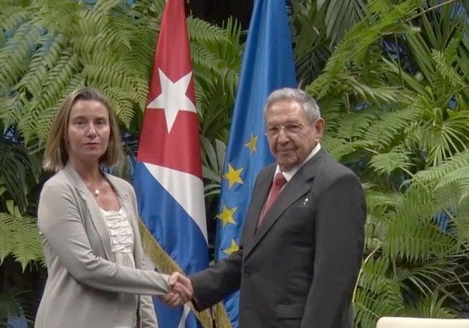Recibió Raúl a la Alta Representante de la Unión Europea para Asuntos Exteriores y Política de Seguridad