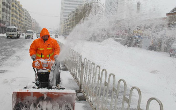 China extiende alerta máxima ante persistencia de nevadas