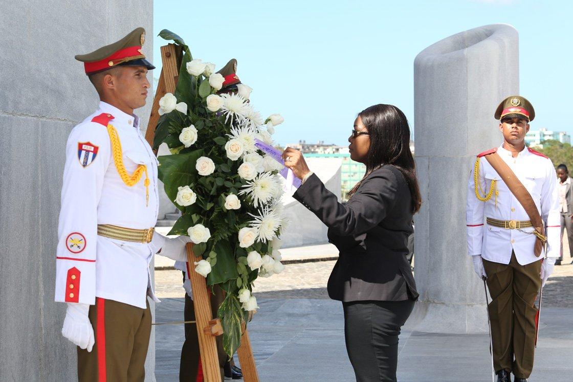 Recibió Díaz-Canel a la Primera Ministra de Namibia (+ fotos)