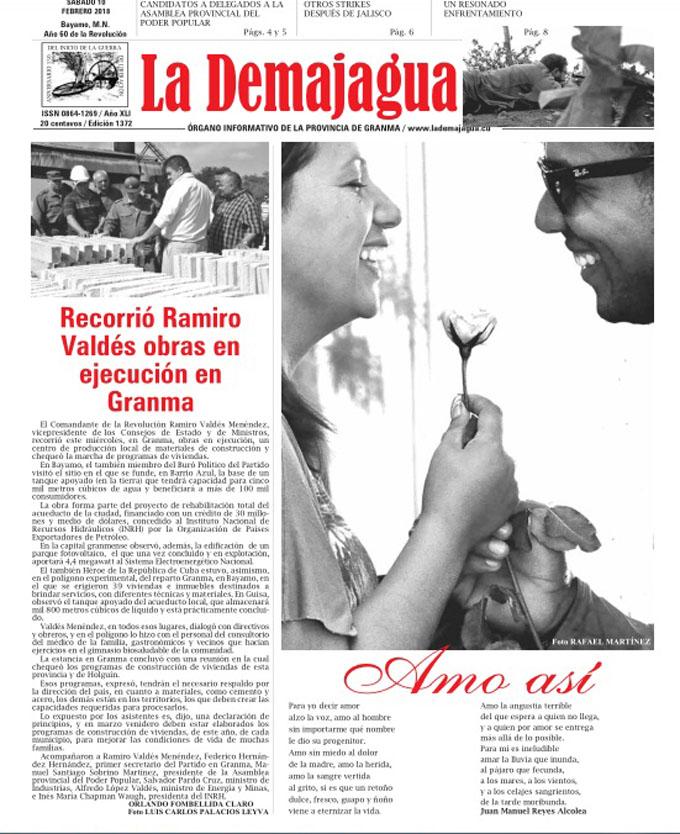 Edición impresa 1372 del semanario La Demajagua, sábado 10 de febrero de 2018