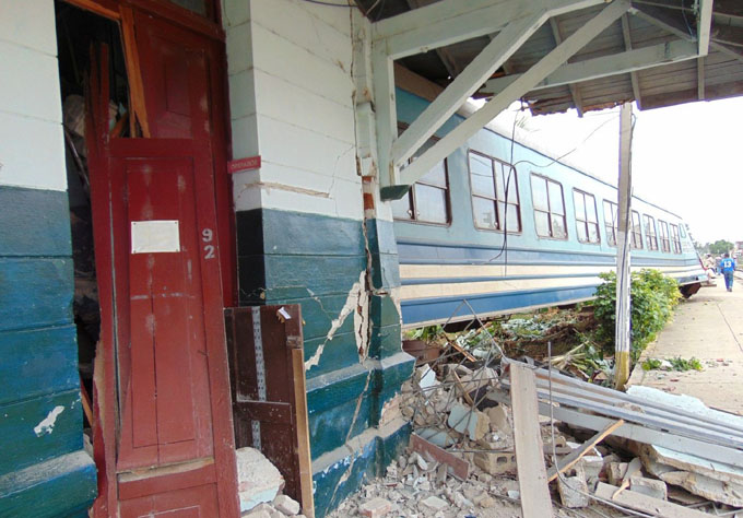 Descarrilamiento provoca daños en estación ferroviaria de Sancti Spíritus