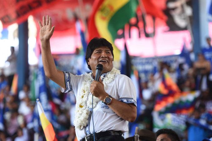 Movilizaciones acompañan anuncio de candidatura de Evo Morales