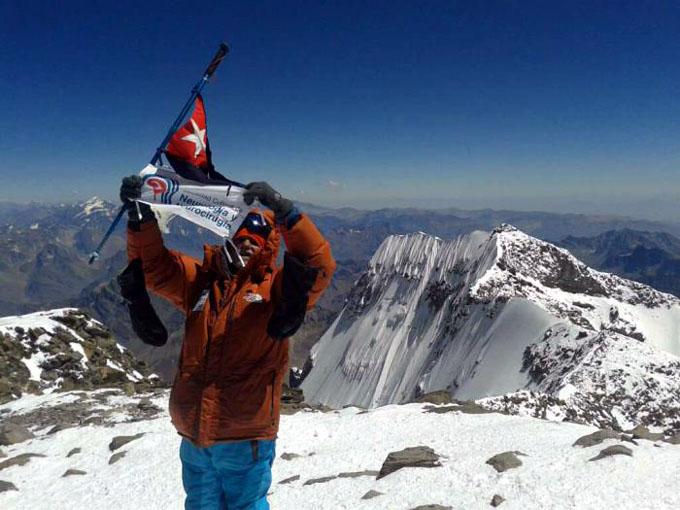Un cubano alcanza la cima del Aconcagua en honor a Martí
