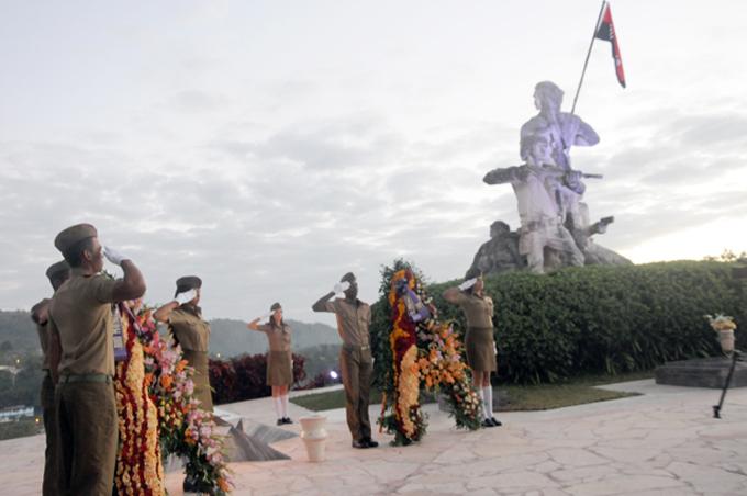 Acto político y ceremonia militar en aniversario 60 de III Frente