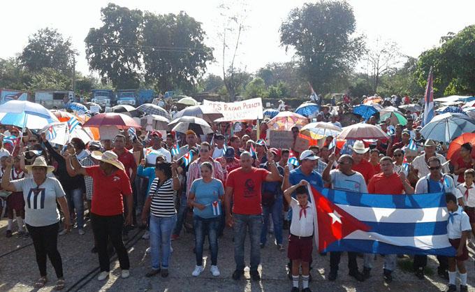 Reafirman cautocristenses apoyo a la Revolución