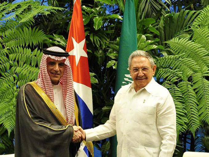 Recibió Raúl al Ministro de Asuntos Exteriores de Arabia Saudita (+ fotos)