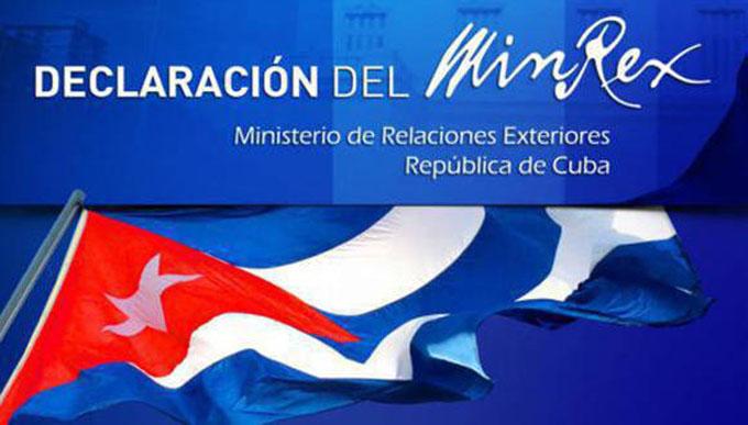Declaración del MINREX ratifica a Canadá que Cuba es un país seguro