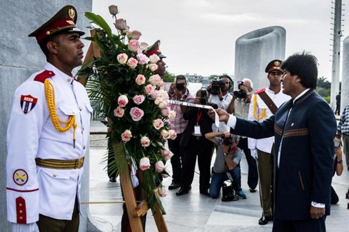 En Cuba presidente boliviano Evo Morales