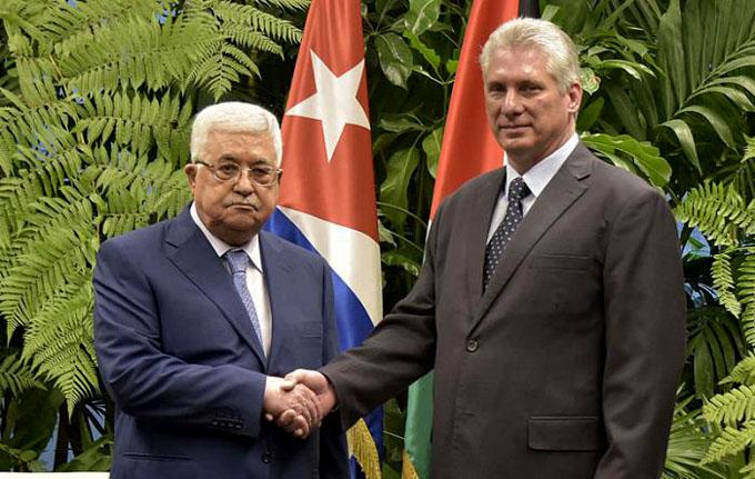 Recibió Díaz-Canel al Presidente del Estado de Palestina