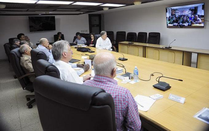 Intercambió Díaz-Canel con autoridades de las provincias afectadas por intensas lluvias (+ fotos y videos)