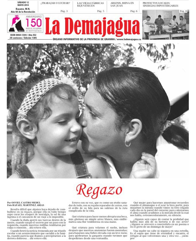 Edición impresa 1385, del semanario La Demajagua, sábado 12 de mayo de 2018