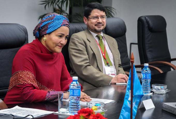 Recibió Salvador Valdés Mesa a la Vicesecretaria General de la ONU
