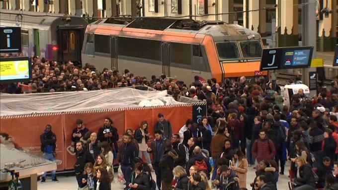 Lunes de paralización casi total en tráfico ferroviario en Francia