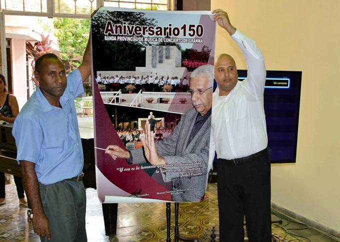 Rinden homenaje a Banda de Conciertos de Bayamo en el aniversario 150 de su fundación (+ fotos y videos)