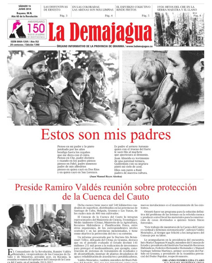 Edición impresa 1390 del semanario La Demajagua, sábado 16 de junio de 2018