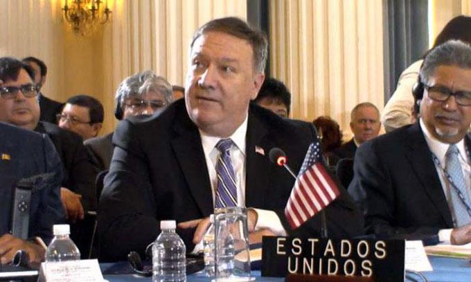 Pompeo en la OEA: remake de un viejo teatro