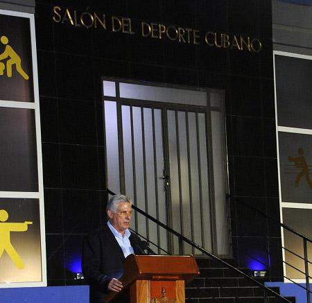 Inauguró Díaz-Canel el Salón del Deporte Cubano
