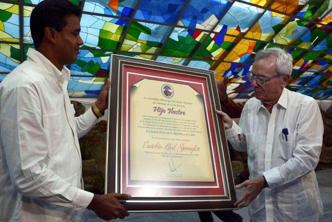 Nombran a Eusebio Leal Hijo Ilustre de Santiago de Cuba