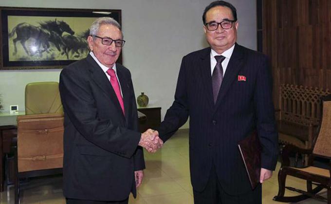 Recibió Raúl a Vicepresidente del Partido del Trabajo de Corea