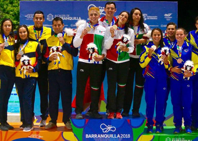 México sigue firme en la punta del medallero de justa centrocaribeña (+ fotos)