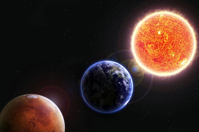 Oposición favorable del planeta Marte este viernes