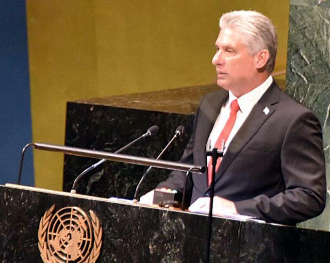 Intervención del Presidente Miguel Díaz-Canel Bermúdez en la Cumbre de Paz Nelson Mandela (+ video)
