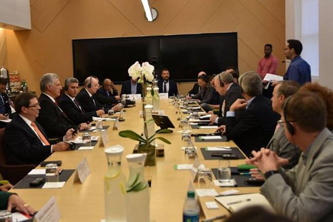 Presidente cubano Díaz-Canel visita sede de Google en Nueva York (+ fotos)