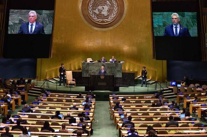 Discurso de Díaz-Canel en el debate general del 73 Período de la Asamblea General de la ONU (+ video)