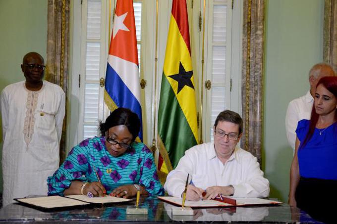 Cuba y Ghana firman acuerdo sobre consultas diplomáticas regulares