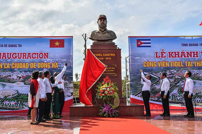 Plaza Fidel Castro en Vietnam eterniza amistad entre los dos países