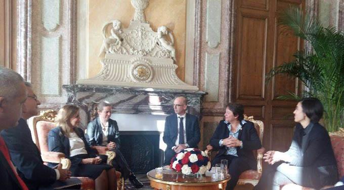 Dialogan autoridades de asambleas nacionales de Cuba y Francia (+ fotos)