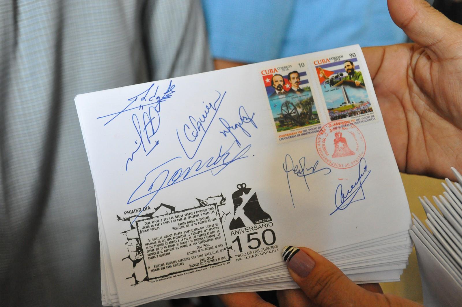 Obsequio postal a protagonistas de gesta independentista cubana (+ fotos)