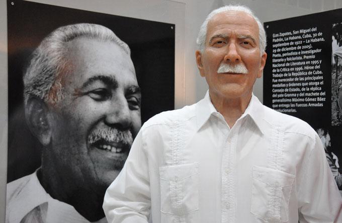 Develan escultura en cera del poeta Jesús Orta Ruiz en Bayamo (+ fotos y videos)