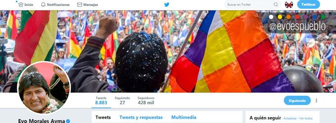 Evo Morales saluda presencia de presidente cubano en Twitter